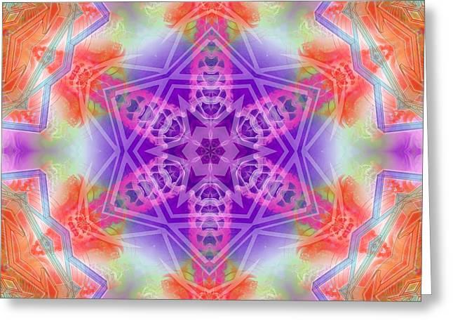 Greeting Card featuring the digital art Mystic Universe 3 Kk2 by Derek Gedney