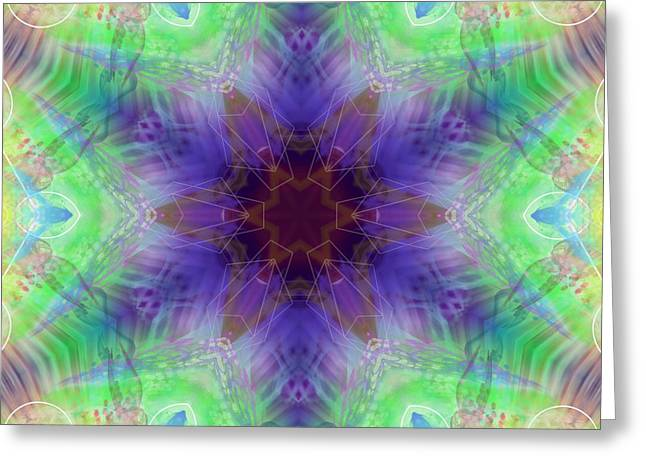 Greeting Card featuring the digital art Mystic Universe 4 Kk2 by Derek Gedney