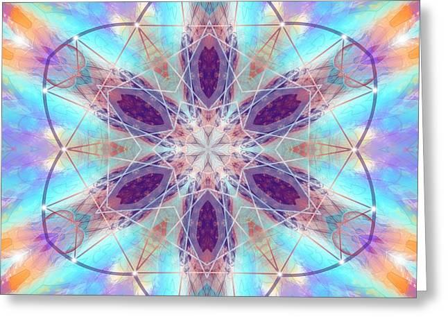 Greeting Card featuring the digital art Mystic Universe 6 Kk2 by Derek Gedney