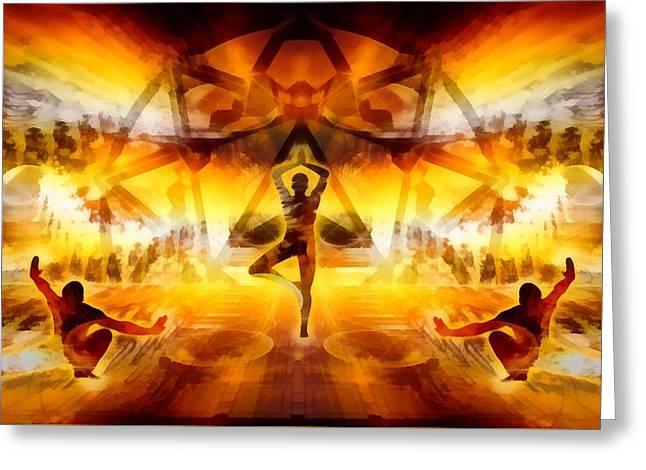 Greeting Card featuring the digital art Mystic Universe 7 by Derek Gedney