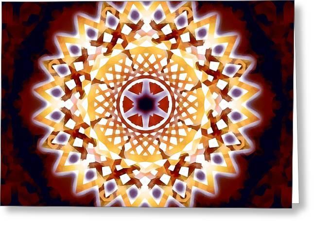 Greeting Card featuring the digital art Mystic Universe 7 Zodiac Lattice by Derek Gedney
