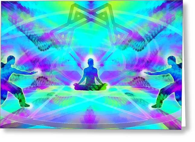 Greeting Card featuring the digital art Mystic Universe 8 by Derek Gedney