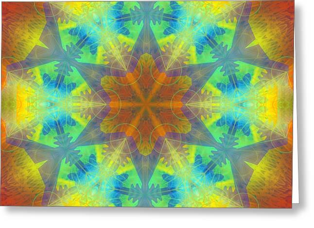 Greeting Card featuring the digital art Mystic Universe 9 Kk2 by Derek Gedney