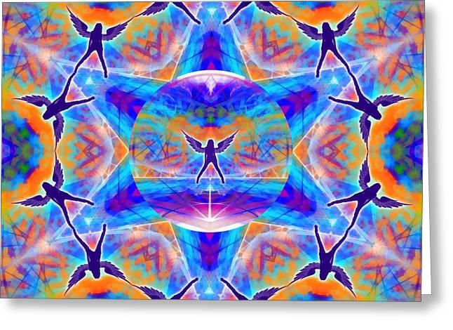 Greeting Card featuring the digital art Mystic Universe Kk 15 by Derek Gedney