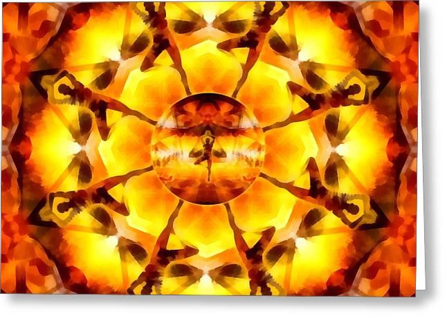 Greeting Card featuring the digital art Mystic Universe Kk 7 by Derek Gedney
