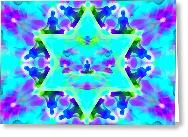 Greeting Card featuring the digital art Mystic Universe Kk 8 by Derek Gedney