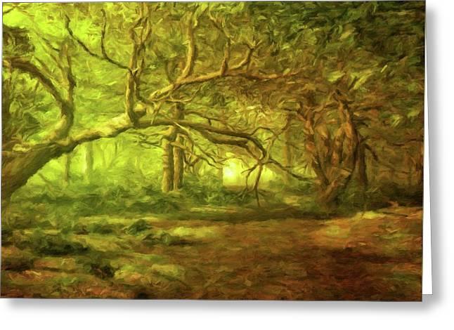 Mystic Wood By Sarah Kirk Greeting Card by Sarah Kirk