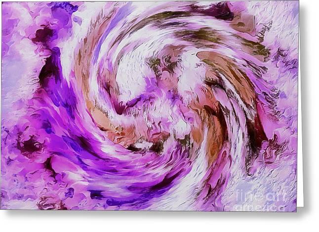 Mystic Zen Greeting Card by Krissy Katsimbras