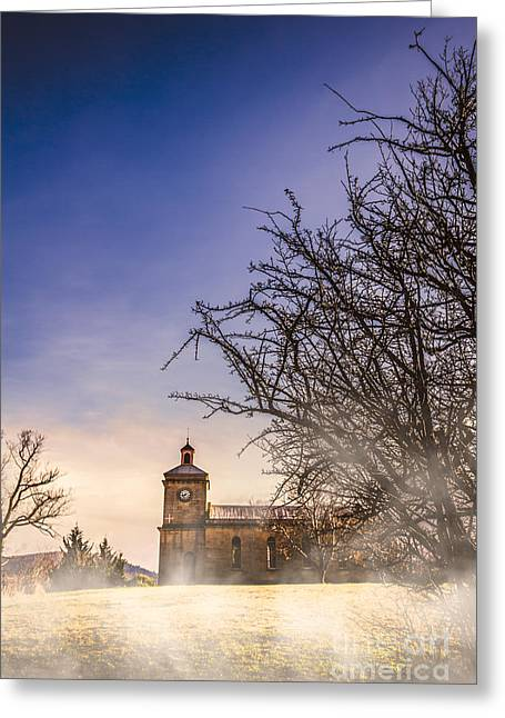 Mystical Church Greeting Card by Jorgo Photography - Wall Art Gallery