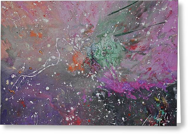 Greeting Card featuring the painting Mystical Dance by Michael Lucarelli