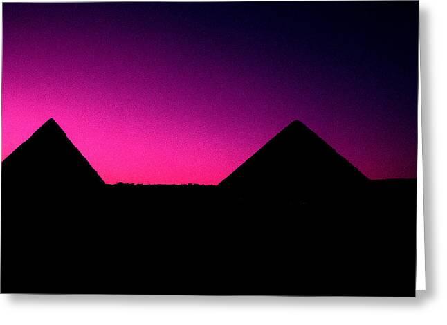 The Pyramids At Sundown Greeting Card