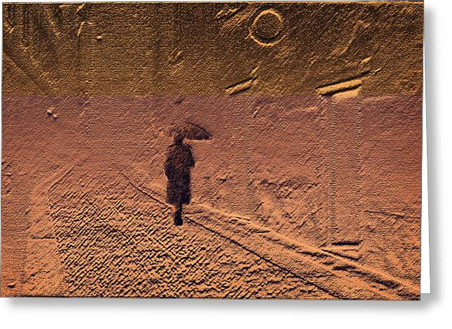 Mystical Journey Of The Shadow Of Your Soul In Extraneous World Greeting Card