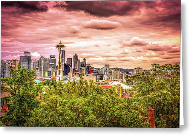 Mystical Kerry Park Greeting Card by Spencer McDonald