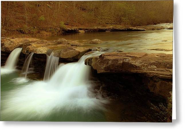 Mystical King River Falls Greeting Card by Iris Greenwell