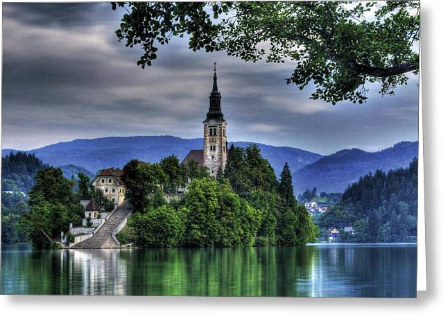 Mystical Lake Bled Greeting Card