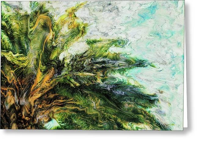 Mystical Palm Greeting Card by Paul Tokarski