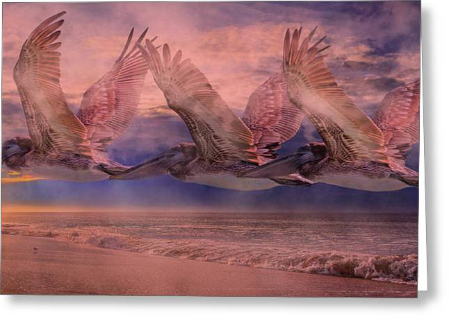 Mystical Trio Greeting Card by Betsy Knapp