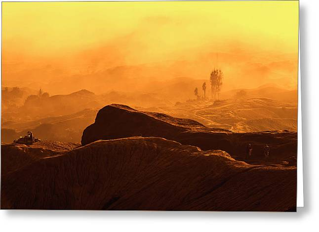 mystical view from Mt bromo Greeting Card