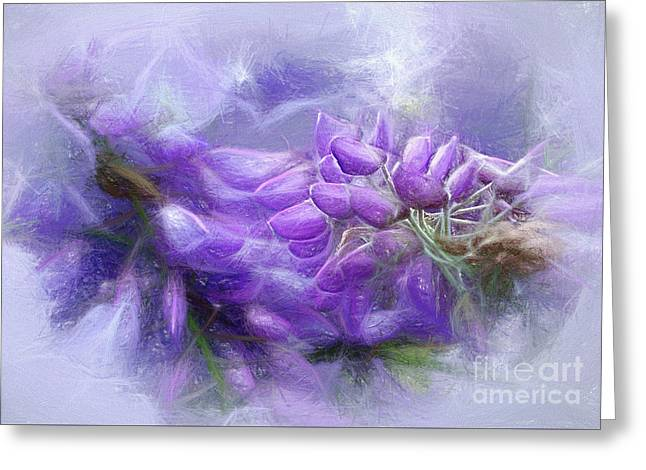 Greeting Card featuring the photograph Mystical Wisteria By Kaye Menner by Kaye Menner