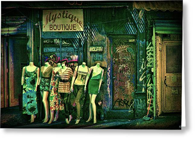Mystique Boutique Greeting Card by Chris Lord