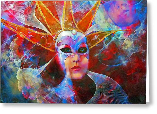 Mystique Greeting Card by Michael Durst