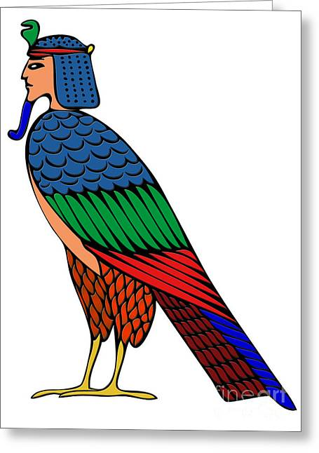mythical creature of ancient Egypt Greeting Card by Michal Boubin