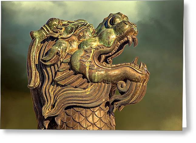 Mythical Head Greeting Card