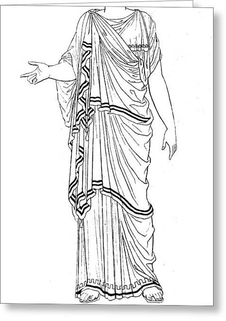 Mythology: Hera/juno Greeting Card by Granger