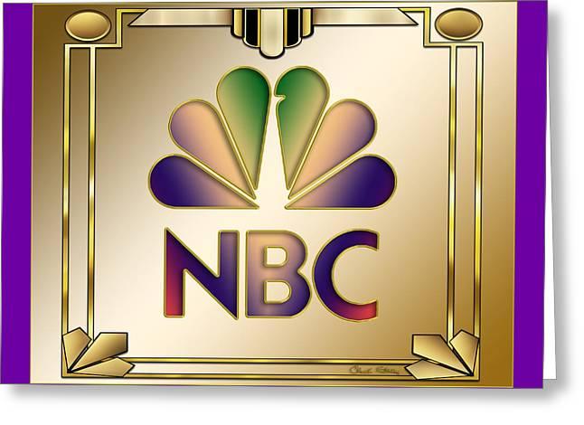 N B C Logo - Art Deco Greeting Card