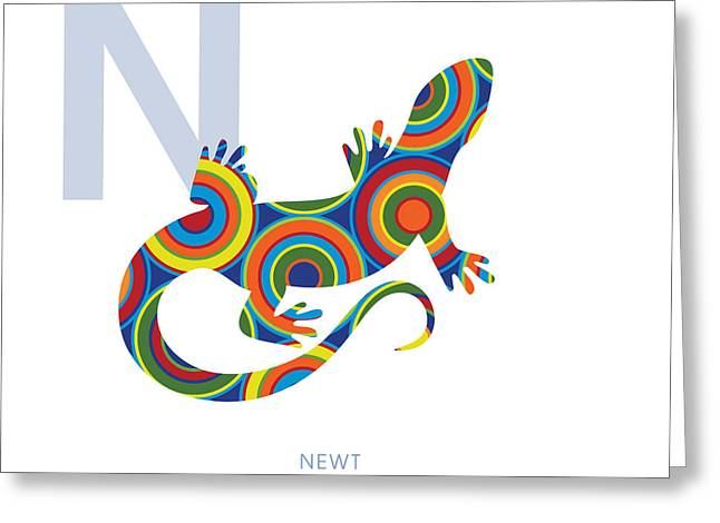 N Is For Newt Greeting Card