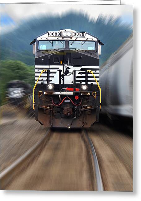 N S 8089 On The Move Greeting Card by Mike McGlothlen