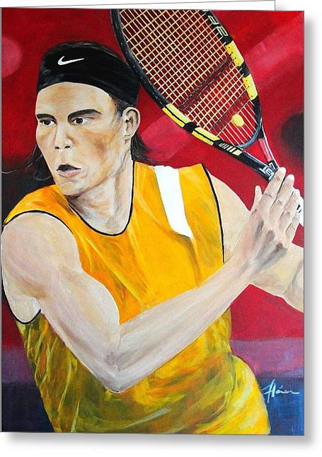 Nadal Greeting Card by Flavia Lundgren