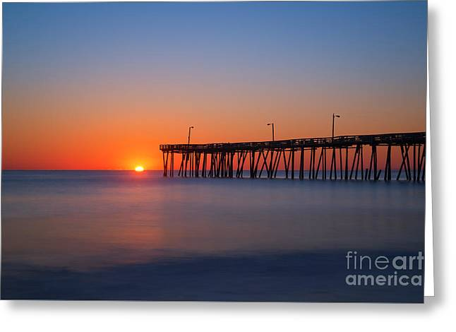 Nags Head Fishing Pier Sunrise Greeting Card