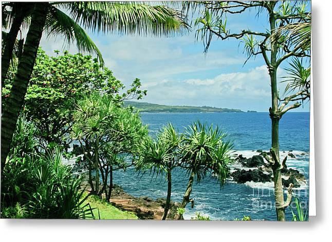 Nahiku Kaelua Hanawi Honolulunui Maui Hawaii Greeting Card by Sharon Mau
