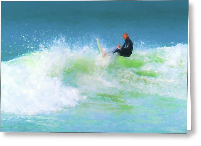 Nailed It Surfing Watercolor Greeting Card