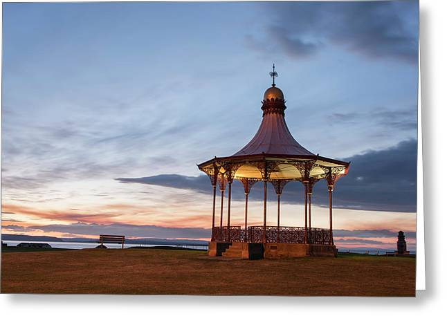 Nairn Bandstand At Dawn Greeting Card