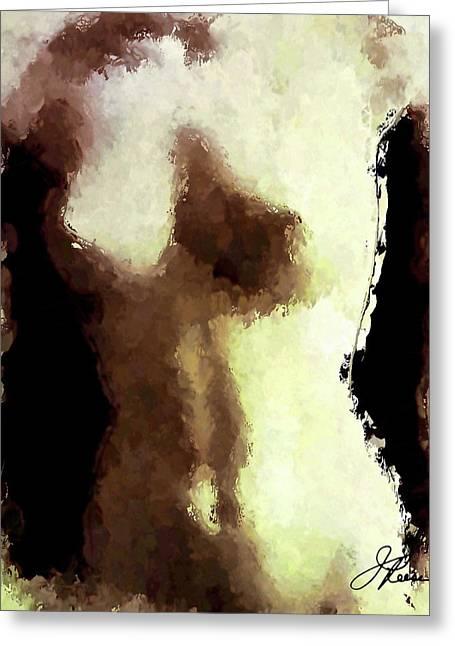 Naked Female Torso  Greeting Card