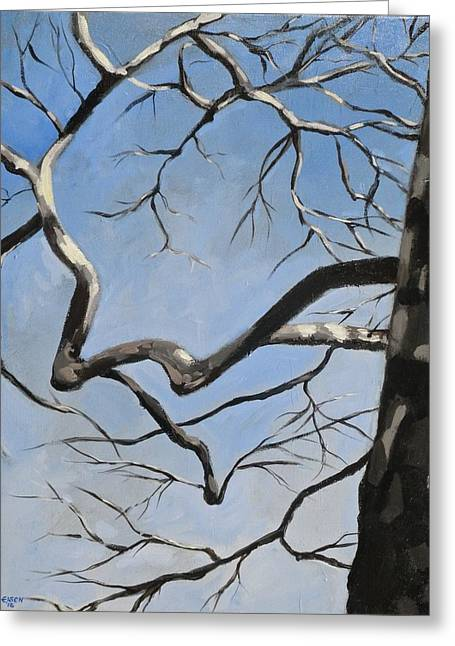 Naked Sycamore Greeting Card