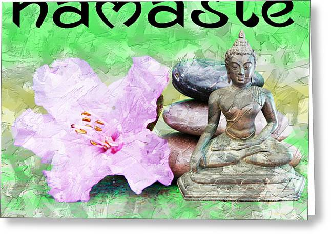 Namaste Buddha. V2 Greeting Card
