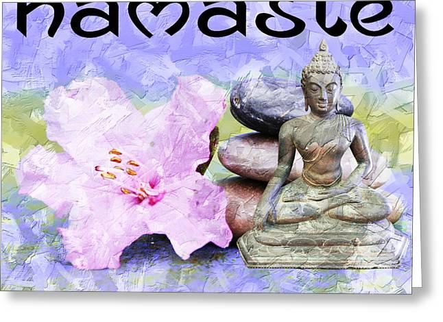 Namaste Buddha. V3 Greeting Card