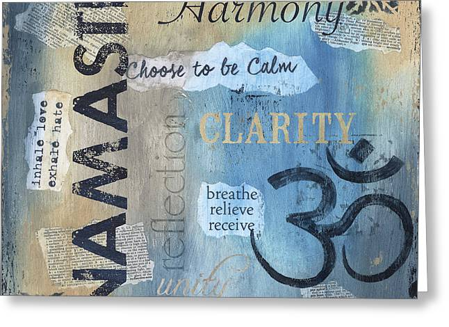 Namaste Greeting Card by Debbie DeWitt