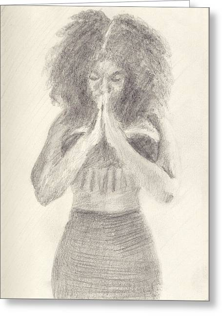 Namaste Greeting Card by Robert Alexander