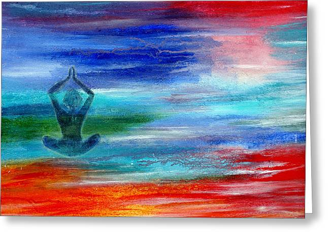 Namaste Greeting Card by The Art With A Heart By Charlotte Phillips