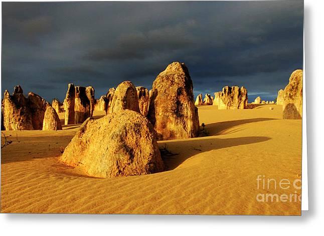 Nambung Desert Australia 12 Greeting Card by Bob Christopher