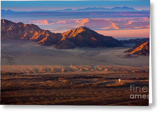 Namibia Balloon Greeting Card by Inge Johnsson