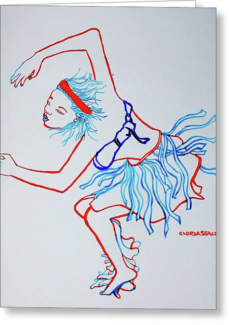 Namibian Traditional Dance Greeting Card
