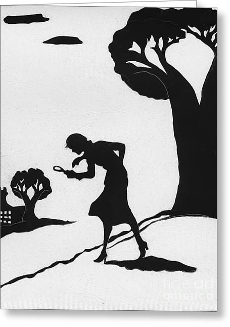 Nancy Drew Greeting Card by Jennifer Johnson