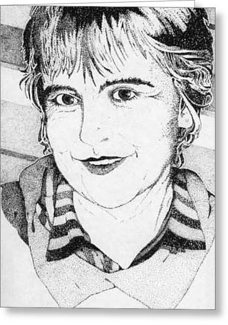 Nancy Greeting Card by Nik Watt