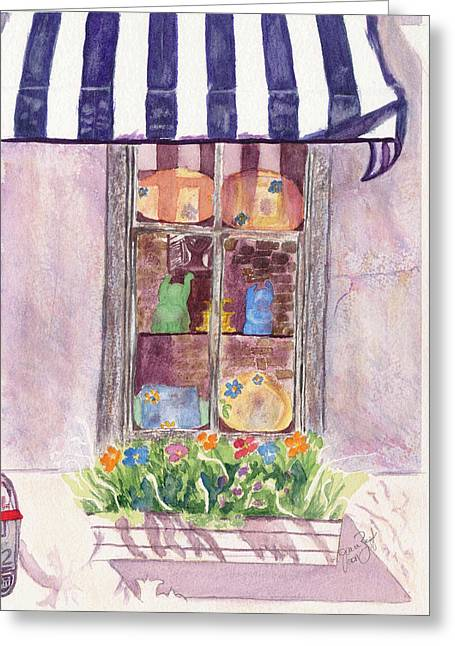 Nancy's Charleston Window Greeting Card