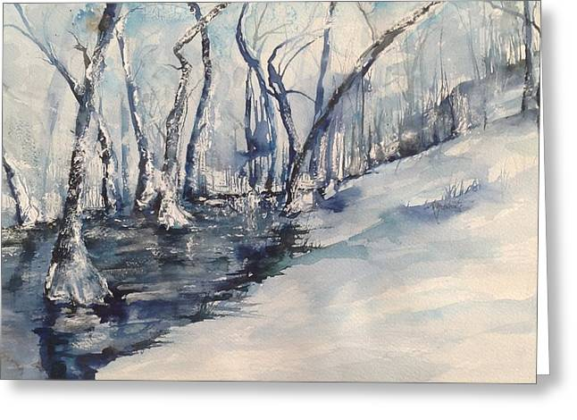 Nancy's Creek Winter Of 2012 Greeting Card by Robin Miller-Bookhout